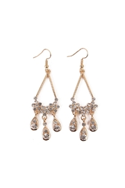 Riah Fashion Rhinestone Dangled Earrings - Product Mini Image