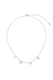 Riah Fashion Rhinestone-Love-Insparation-Necklace - Front cropped