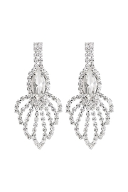 Riah Fashion Rhinestone-Marquise-Chandelier-Earrings - Front cropped