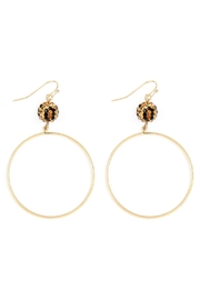 Riah Fashion Rhinestone-Metal Fishhook-Round-Earrings - Product Mini Image
