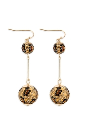 Riah Fashion Rhinestone-Metal-Leopard Fish-Hook-Bar-Earring - Product Mini Image
