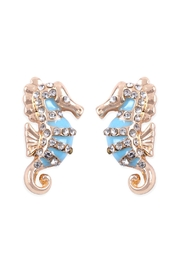 Riah Fashion Rhinestone Seahorse-Earrings - Product Mini Image