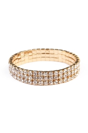 Riah Fashion Rhinestone Stretch Bracelet - Product Mini Image