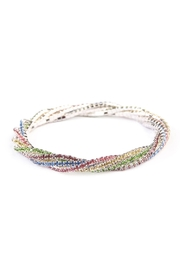 Riah Fashion Rhinestone Stretchable Bracelet - Front full body