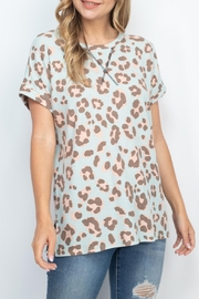 Riah Fashion Rolled-Sleeve-Leopard-Thermo-Top - Product Mini Image