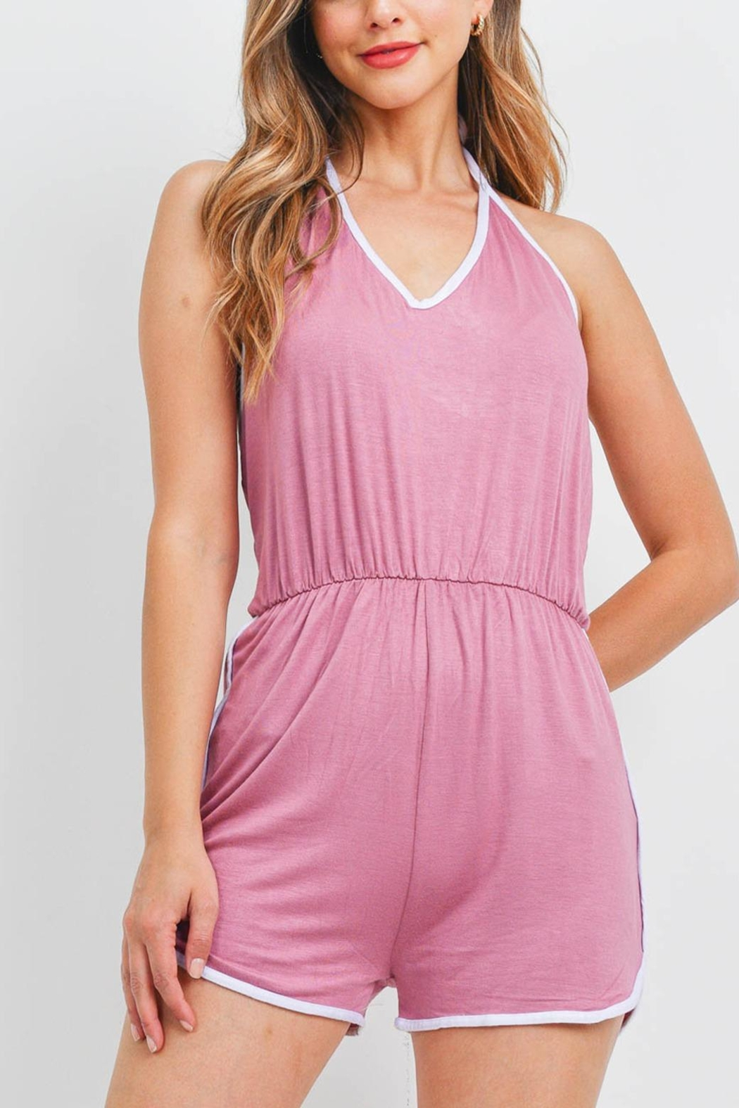 Riah Fashion Romper - Front Cropped Image