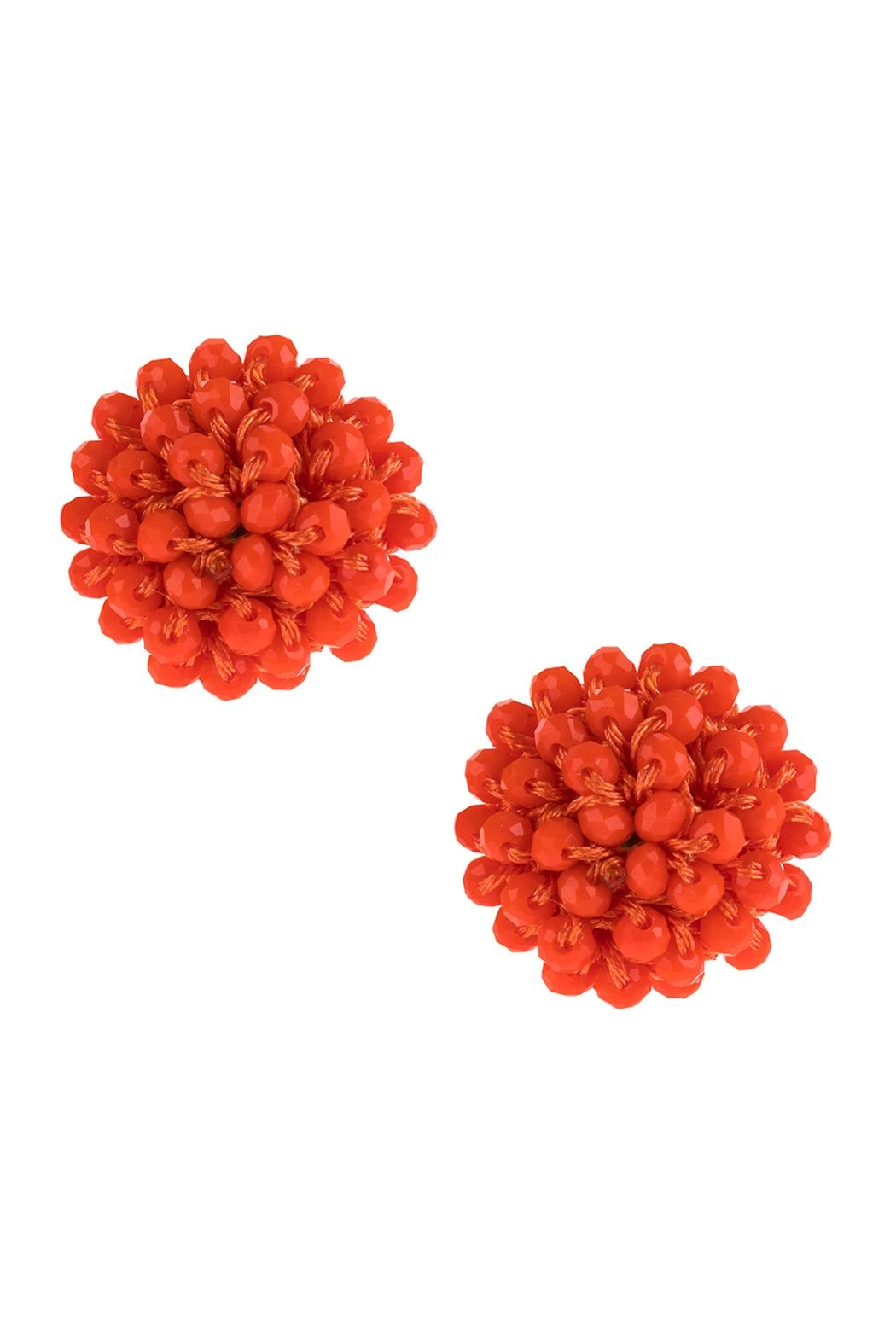 Riah Fashion Rondelle Post Earrings - Front Cropped Image