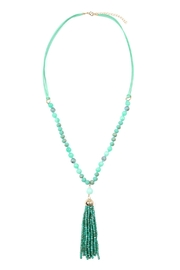 Riah Fashion Rondelle-Tassel-Pendant Polycord-Necklace - Product Mini Image
