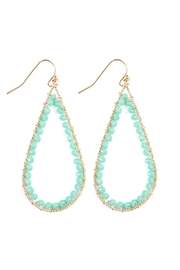Riah Fashion Rondelle Wire-Stitched Teardrop-Earring - Product Mini Image