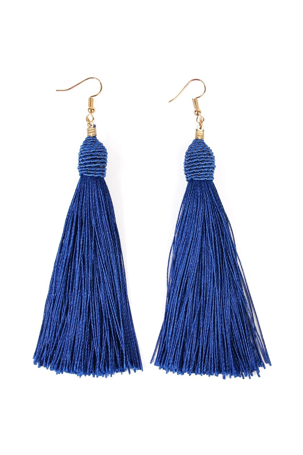 Riah Fashion Rope Tassel Earrings - Front Cropped Image