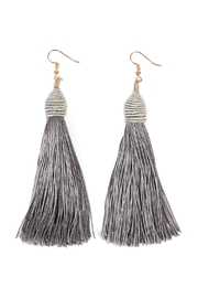 Riah Fashion Rope Tassel Earrings - Front cropped