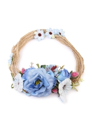 Riah Fashion Rose Hair Headwrap Belt - Product Mini Image