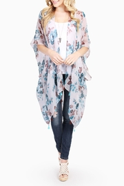 Riah Fashion Rose-Print Sheer Cardigan - Product Mini Image