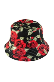 Riah Fashion Rose Printed Double-Side-Wear Reversible Bucket Hat - Product Mini Image