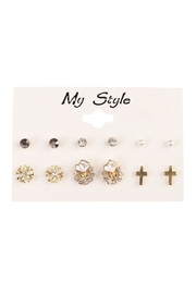 Riah Fashion Rose Stud Set - Product Mini Image