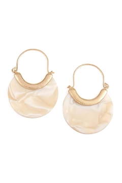 Riah Fashion Round Acetate Wire Earrings - Product List Image