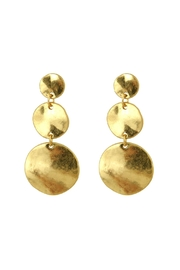 Riah Fashion Round Burnish-Gold Matte-Earrings - Product Mini Image
