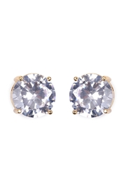 Riah Fashion Round Cubic-Zirconia Post-Back-Earrings - Product Mini Image