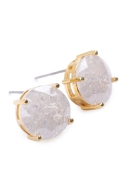 Riah Fashion Round Cubic-Zirconia Post-Back-Earrings - Front full body