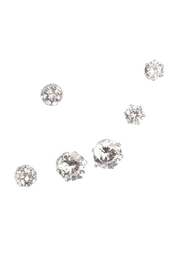 Riah Fashion Round Cut Stud Earrings - Product Mini Image