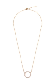 Riah Fashion Round Cutout Pendant Necklace - Product Mini Image