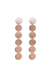 Riah Fashion Round Disc Drop Earrings - Front cropped