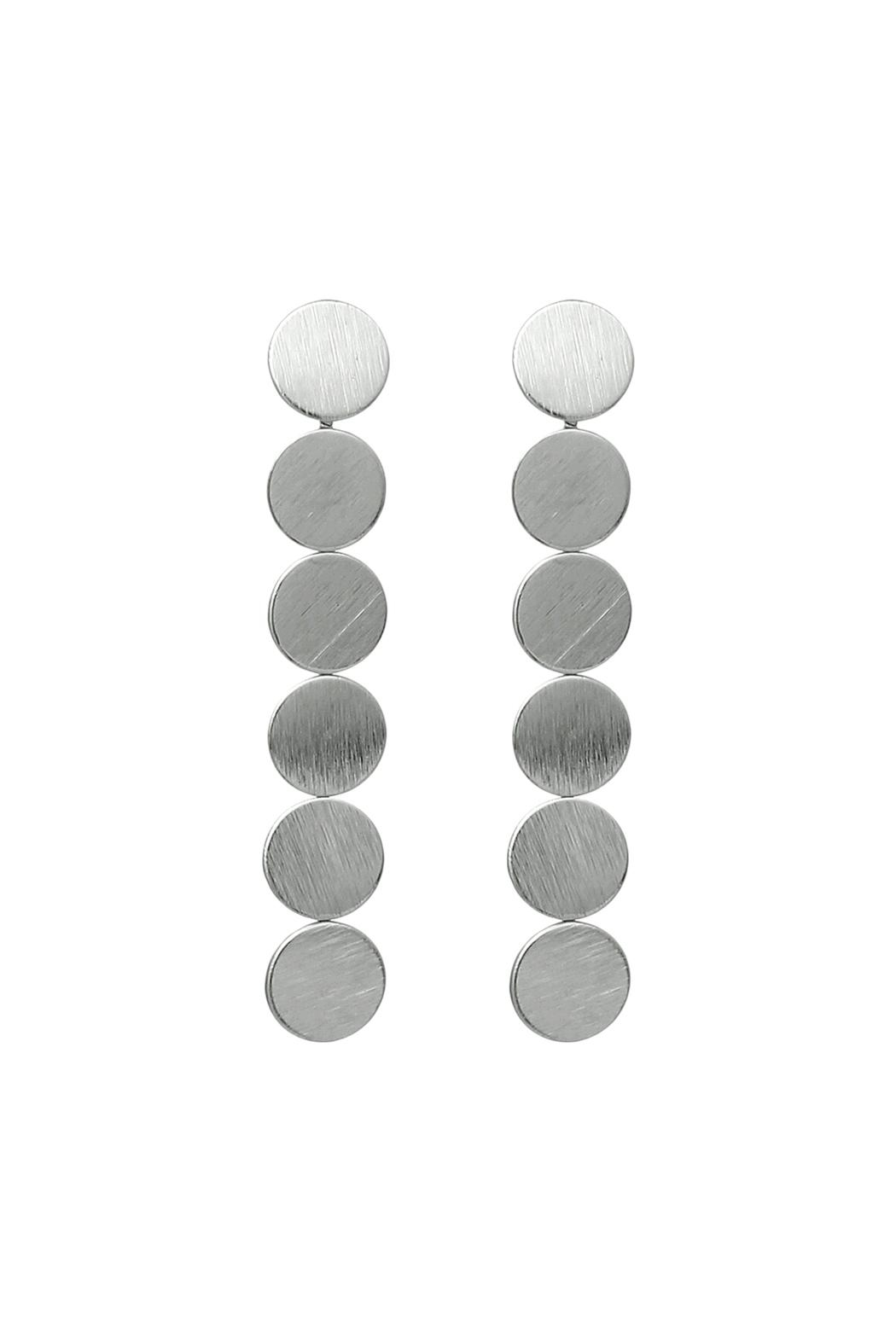 Riah Fashion Round Disc Drop Earrings - Front Cropped Image