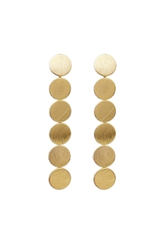 Riah Fashion Round Disc Drop Earrings - Product Mini Image