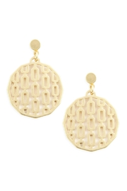 Riah Fashion Round Filigree Post-Drop-Earring - Front cropped