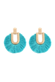 Riah Fashion Round Fringe Tassel-Post-Earring - Product Mini Image