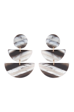 Shoptiques Product: Round-Half-Circle-Acetate-Link-Drop-Earrings