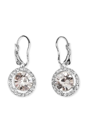 Riah Fashion Round-Lever Back Crystal-Earrings - Front cropped