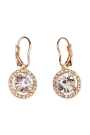 Riah Fashion Round-Lever Back Crystal-Earrings - Product Mini Image