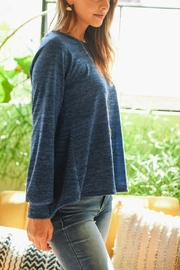 Riah Fashion Round-Neck-Hacci-Sweater - Back cropped