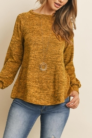 Riah Fashion Round-Neck-Hacci-Sweater - Other