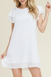 Riah Fashion Ruffled-Sleeve Mesh Dress - Product Mini Image