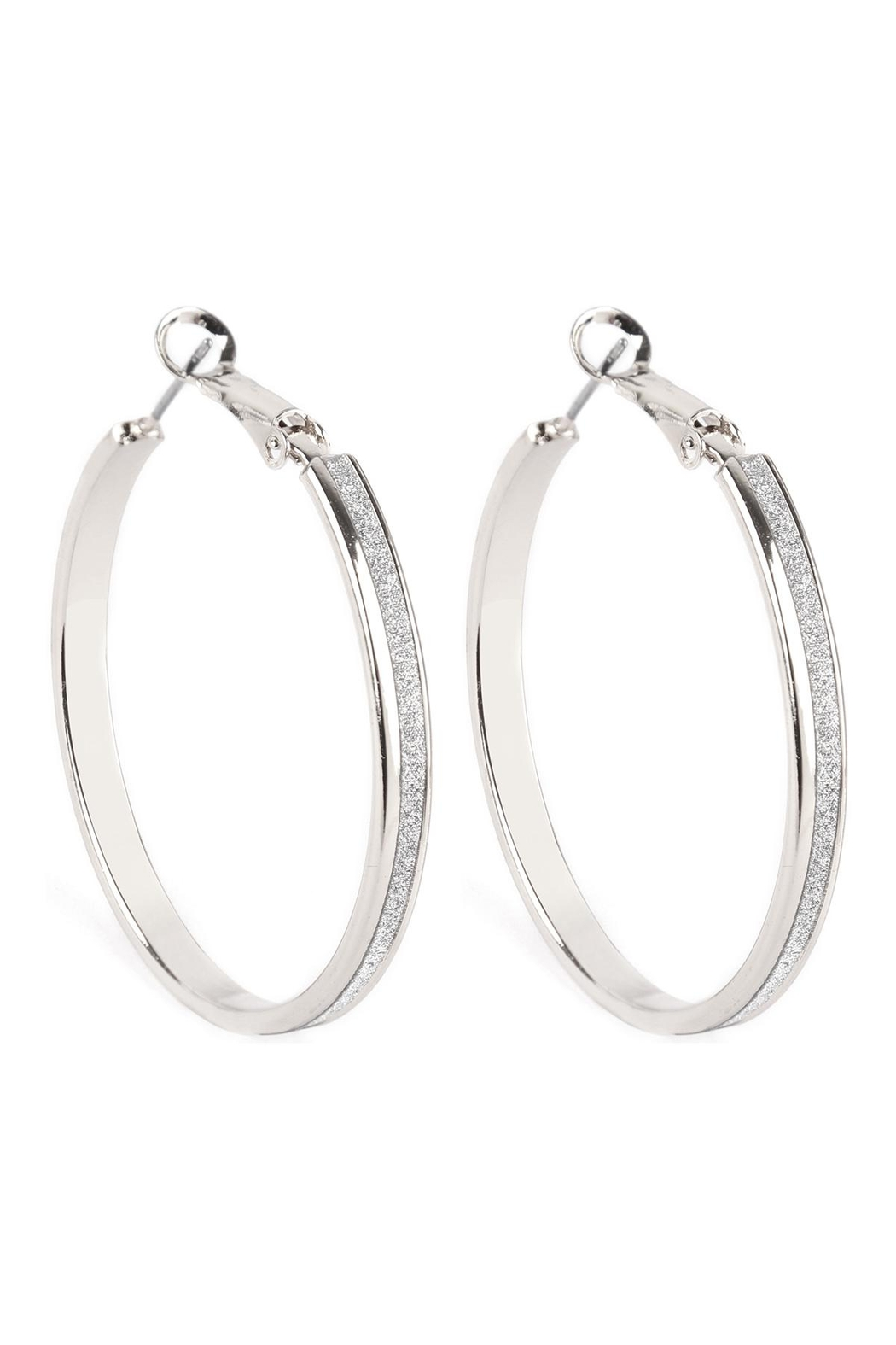 Riah Fashion Sand-Sticker-Hoop-Earrings - Front Cropped Image