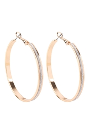 Riah Fashion Sand-Sticker-Hoop-Earrings - Front cropped
