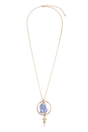 Riah Fashion Sapphire-Goldtone Necklace - Product Mini Image