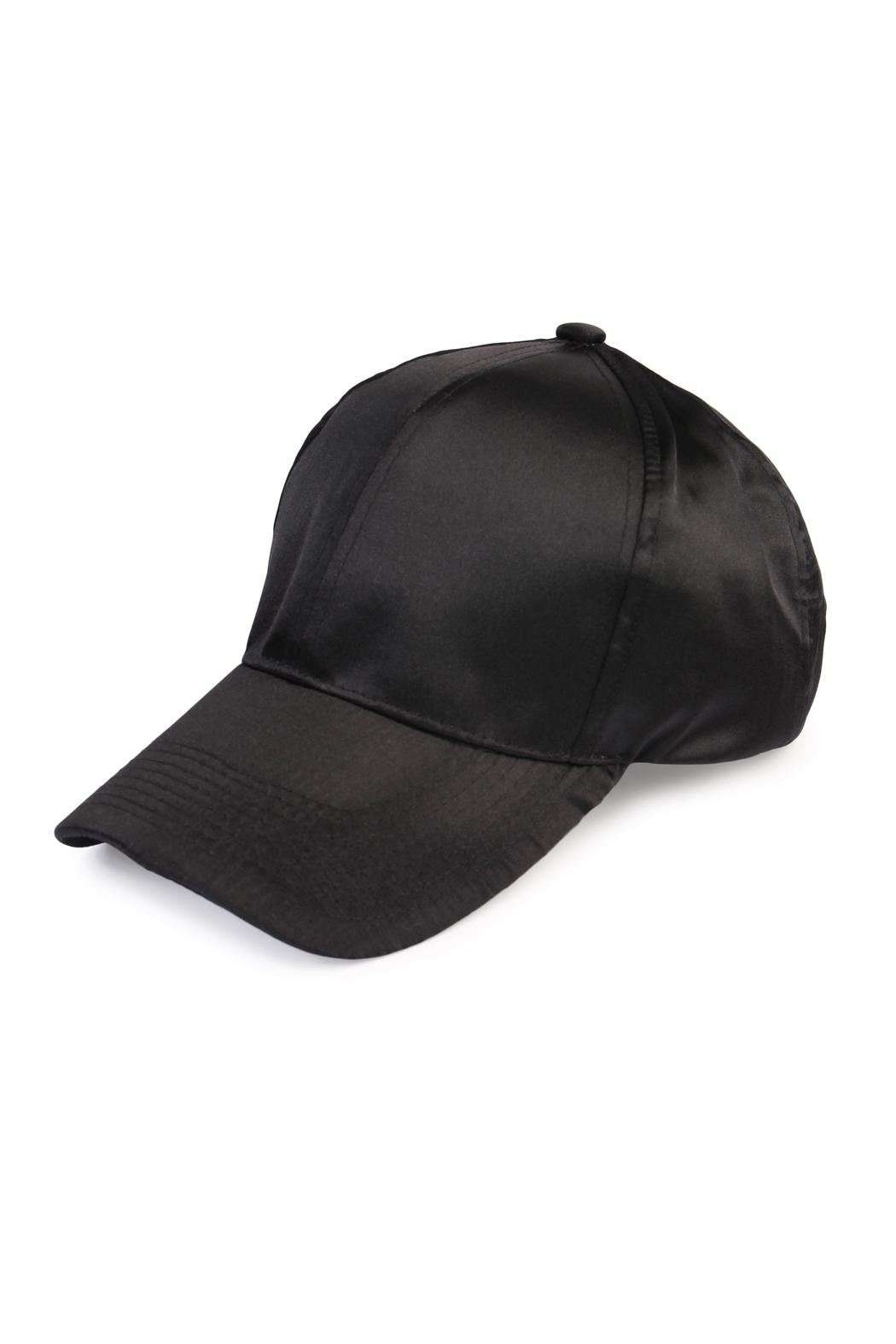 Riah Fashion Satin Baseball Cap - Main Image