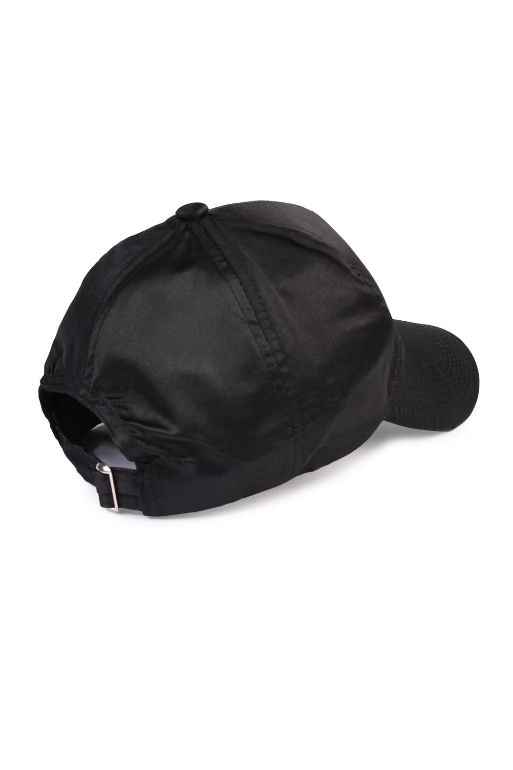Riah Fashion Satin Baseball Cap - Front Full Image