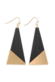 Riah Fashion Satin Metal Wood-Geometric-Earrings - Product Mini Image