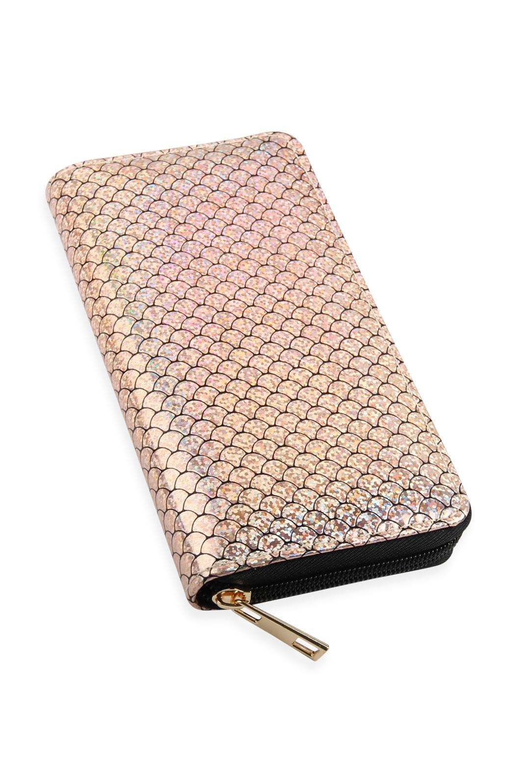 Riah Fashion Single-Metal-Zipper Wallet - Front Full Image