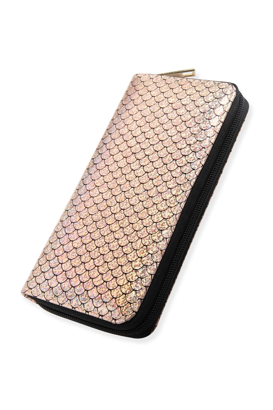 Riah Fashion Single-Metal-Zipper Wallet - Main Image