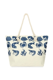 Riah Fashion Sea Creatures Printed Tote Bag - Front cropped