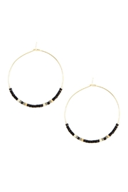 Riah Fashion Seed Beaded Hoop-Earrings - Product Mini Image