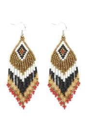 Riah Fashion Seed Beads Dangle-Earrings - Product Mini Image