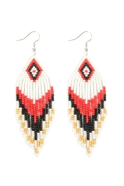 Riah Fashion Seed Beads Dangle-Earrings - Front cropped