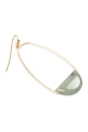 Riah Fashion Semi Precious-Stone Hoop-Earrings - Front full body