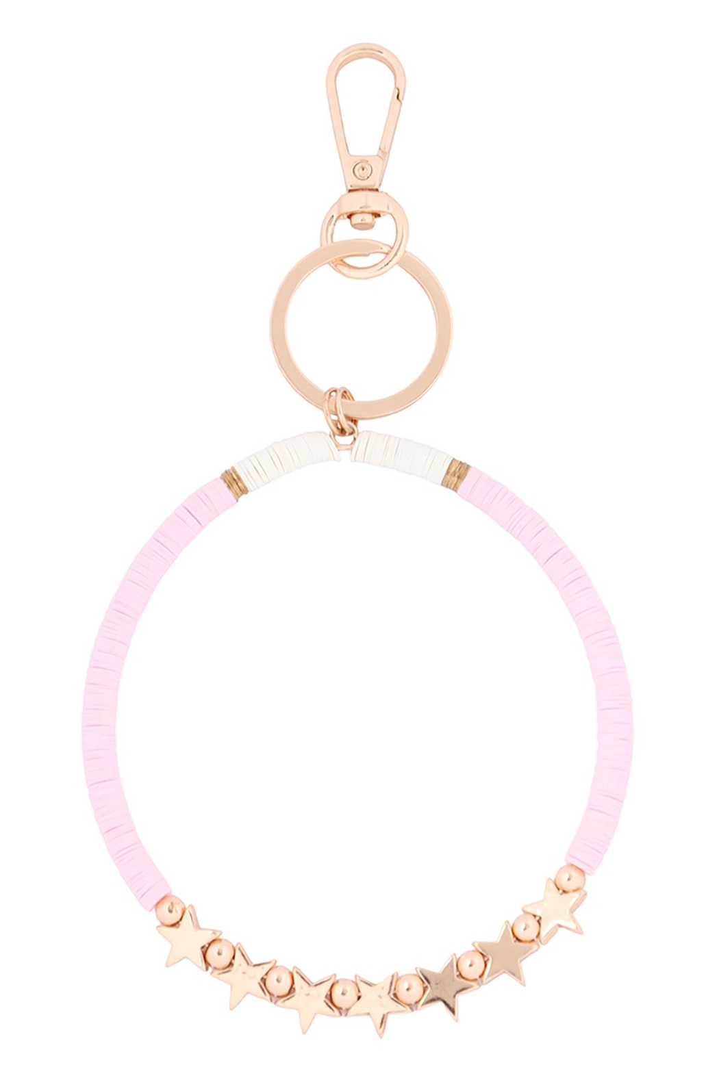 Riah Fashion Sequin-Beads-Star-Bracelet-Keychain - Front Cropped Image